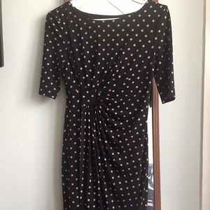 Classy Polkadot Dress for the Workplace